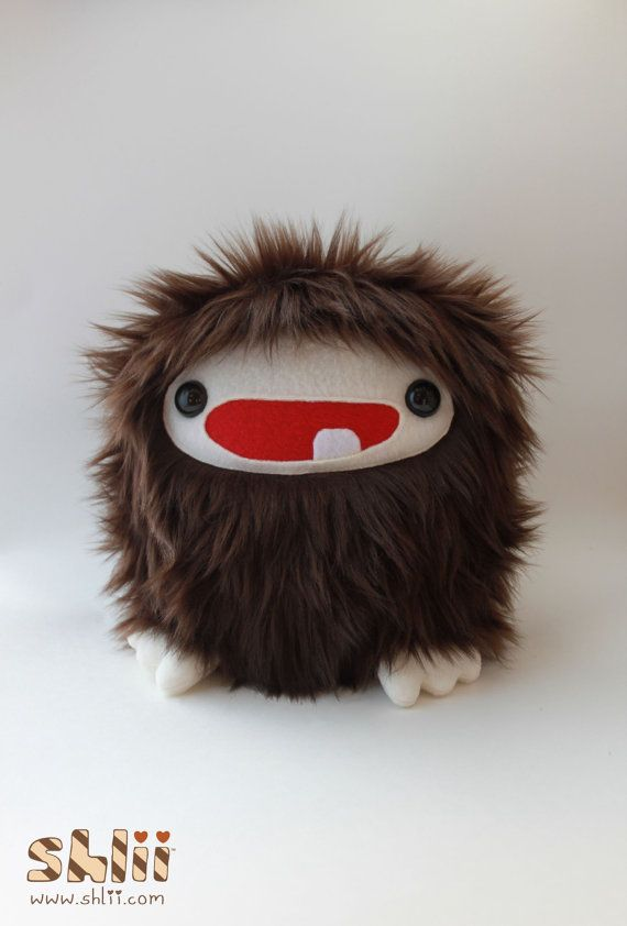 Baby Bigfoot Sasquatch Furry Monster Plush by ShliiKawaii on Etsy, $35.00