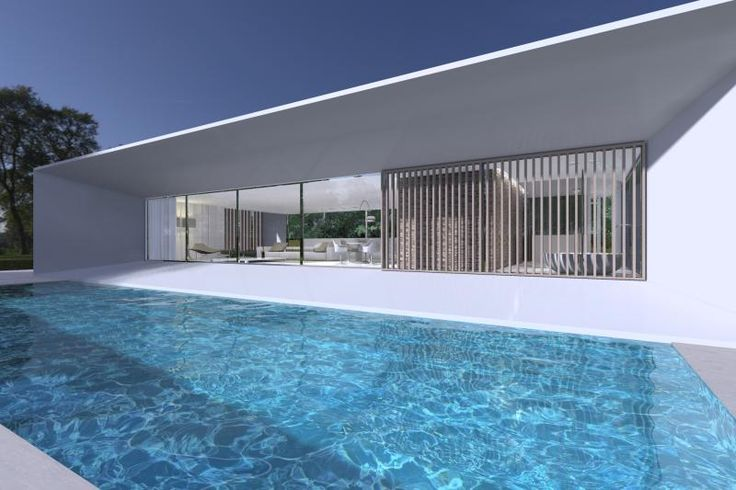 Exterior view of the Private House project by Filip Deslee _