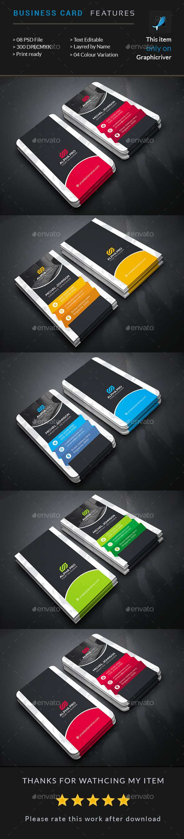 Business Card  - #Business Cards Print Templates Download here: https://graphicriver.net/item/business-card-/17371749?ref=classicdesignp