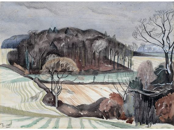 """Autumn landscape"" by John Nash"