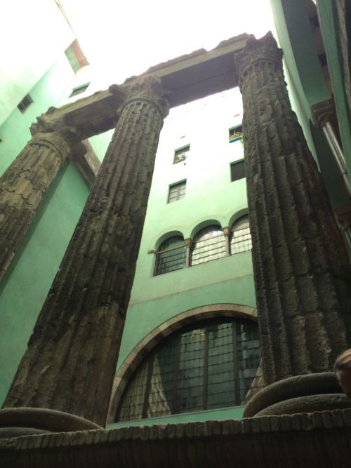 Temple D'August  Cobblestone Travel -   Day 1: Barcelona, Spain