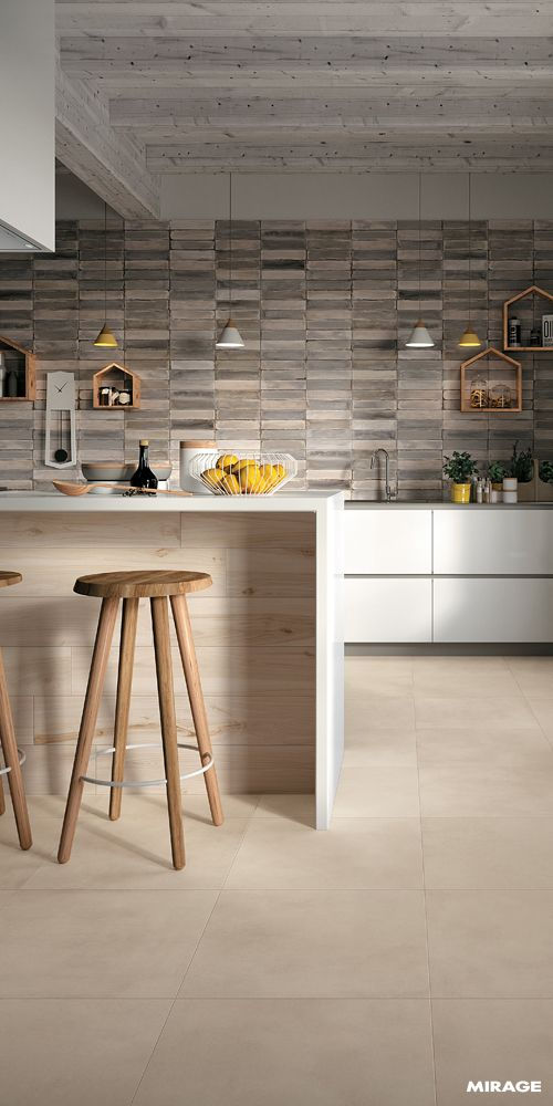   kitchen   CONCRETE EFFECT #makeityourhome #homedesign #interiordesign #concrete #designinspiration #design #interior #kitchen #kitchendecor #miragetile #cement