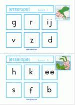 Letterspel - Kikker in de kou - letterkaarten