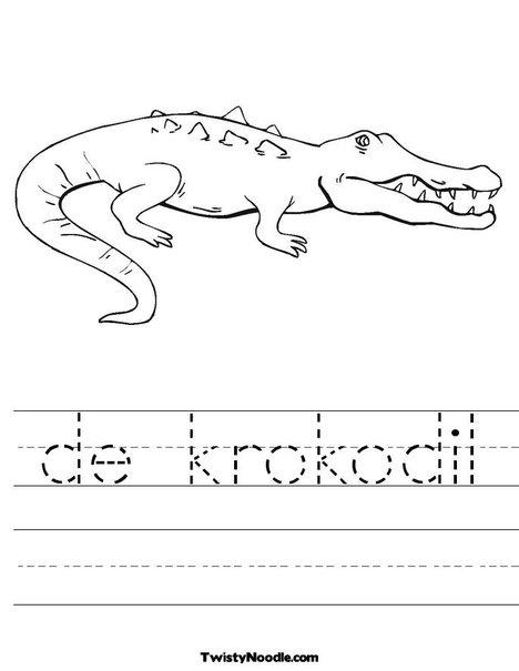 de krokodil Worksheet from TwistyNoodle.com