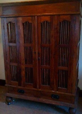 Beautiful Indian jali cupboard, wardrobe, tv unit for sale on eBay.