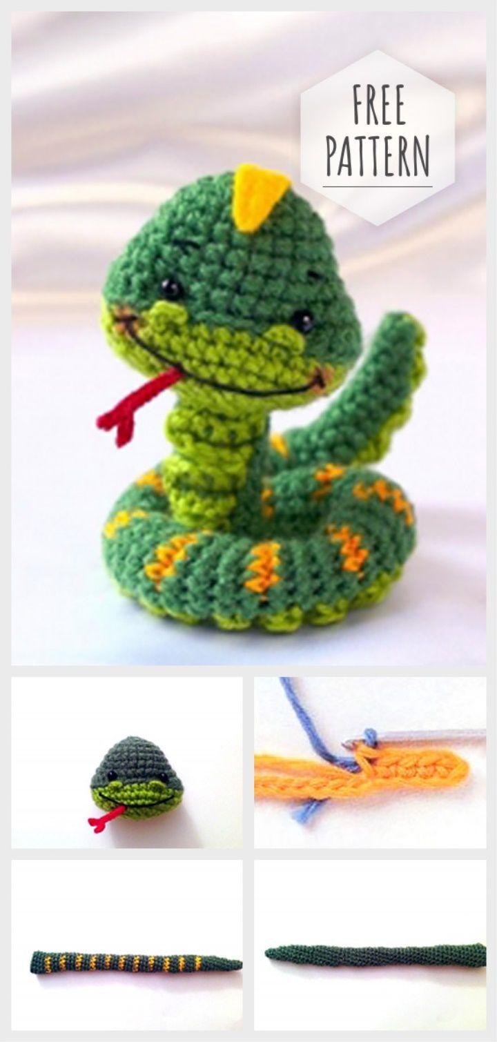 serpenti schema gratis crochet uncinetto amigurumi | 1510x720