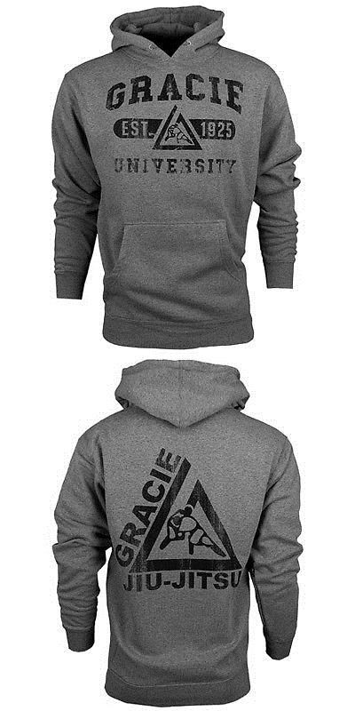 Hoodies and Sweatshirts 179770: Gracie Jiu-Jitsu University Pullover Hoodie - Gray -> BUY IT NOW ONLY: $45 on eBay!