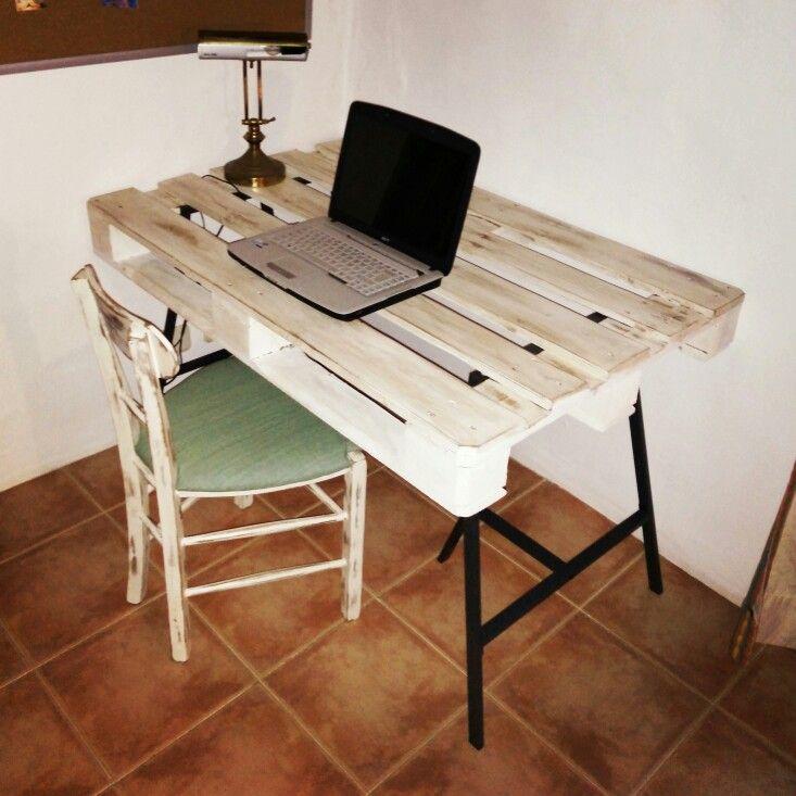 escritorio con palet