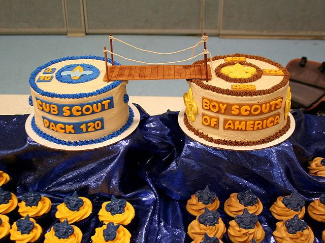 Cakes and cupcakes we made for our son's Cub Scout crossover celebration.     http://www.sweetlywildbakes.com