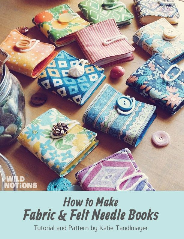 Handmade Book Cover Tutorial ~ Make your own fabric felt needle books the free pattern
