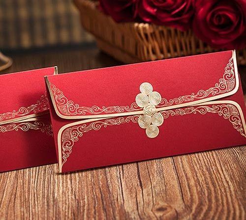 結婚紅包袋 - DIY袖扣禮金袋10入