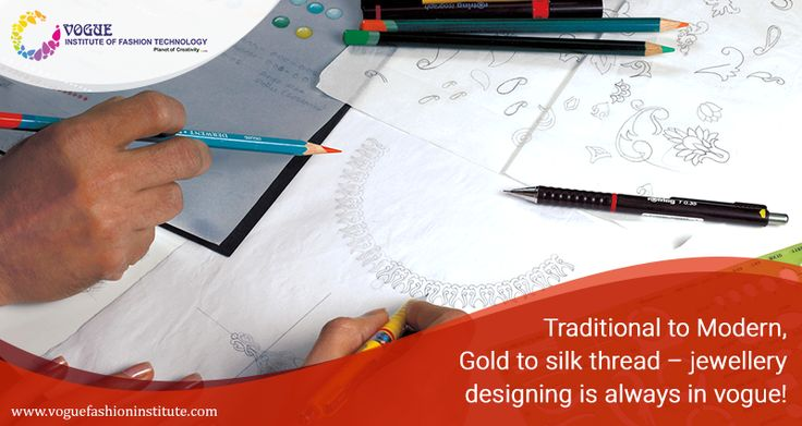 India has always been known for its intricate gold and silver jewellery.  Though the yearn for jewellery is still the same, the designs and materials have evolved over time. Jewellery designing is one of the few fields that will always be in demand.  For more details visit @ https://goo.gl/kNyL7V  #VIFT | #MaterialsDesignCollege  | #JewelleryDesigning | #DesignCourse |#DesignCollege