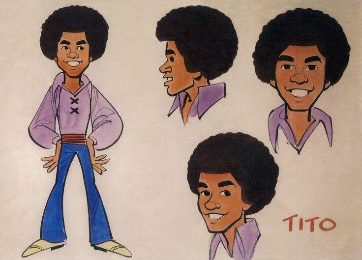 Jack Davis' original character studies of Tito Jackson for the animated series, The Jackson 5ive (1971-73, ABC)