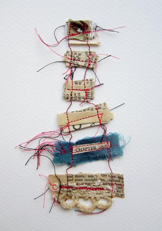 Memory Threads - Original Mixed Media Fibre Art ( Framed)