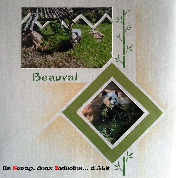 Pandas aux zoo de Beauval avec le gabarit Bruxelles Mexico