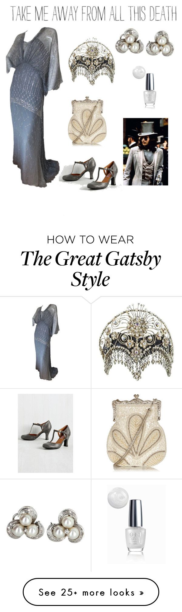 """""""Movie night in grey"""" by dtlpinn on Polyvore featuring Gina Fratini, Vintage and OPI"""