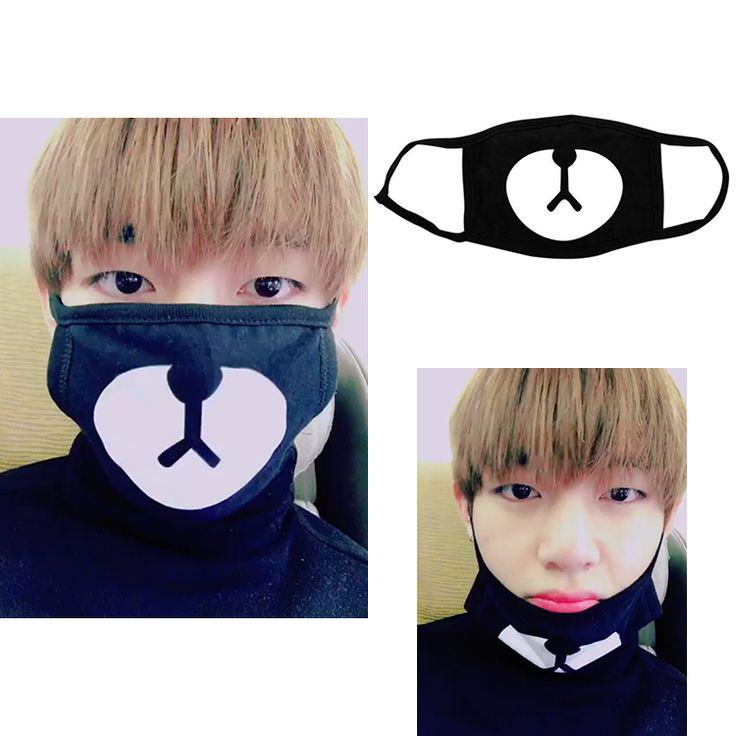 BTS / Bangtan Boys Taehyung V Black Bear Mouth Mask