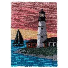 Sunset Lighthouse Latch Hook Kit