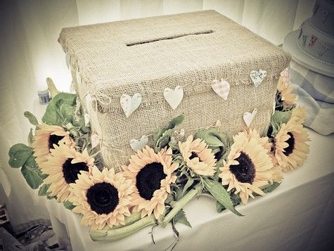 Include a box like this for your guests to leave their messages of congratulations