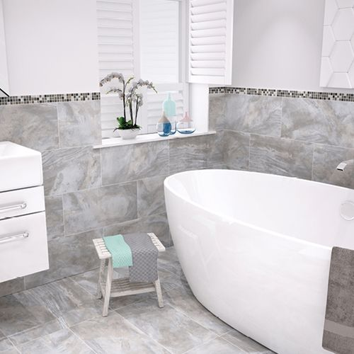 Stoneware Flint Tile | Bathroom Wall Tile | Silk Finish | Johnson Tile Buy  Now At Part 91