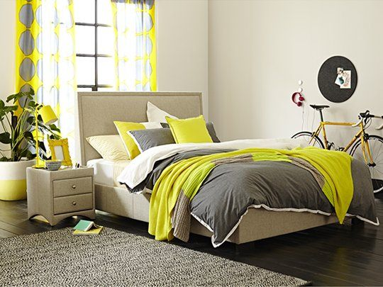 Kenton Queen Bed Frame (Framed Headboard) - but with storage and in slate colour, King size