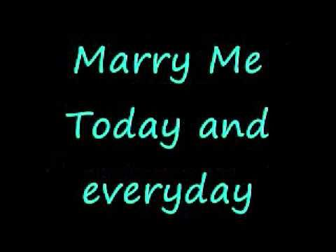Train - Marry me (lyrics) This a great song to use as your entrance song...give it a listen