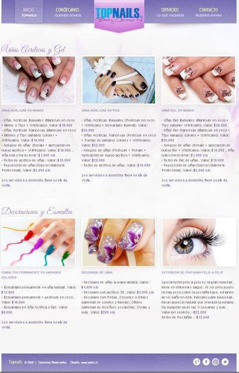 Una propuesta innovadora en uñas acrílicas y uñas gel  www.topnails.cl FONO: 94243426