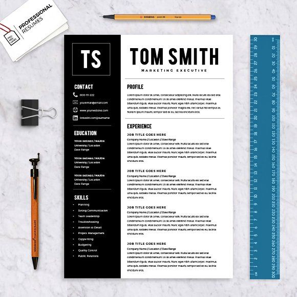 Microsoft Word Professional Resume template design will help you send in that resume which will get you that job you're really after and keen to be employed for.