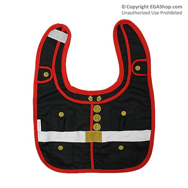 Baby Bib: US Marine Corps Dress Blues - too cute!