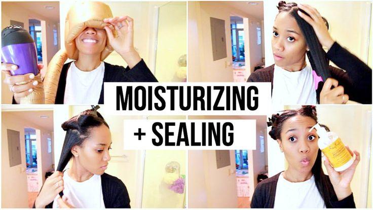 Moisturizing & Sealing Relaxed Hair