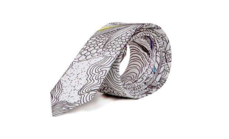 marthu tie doodle print, marthu print, men fashion, men's accesories