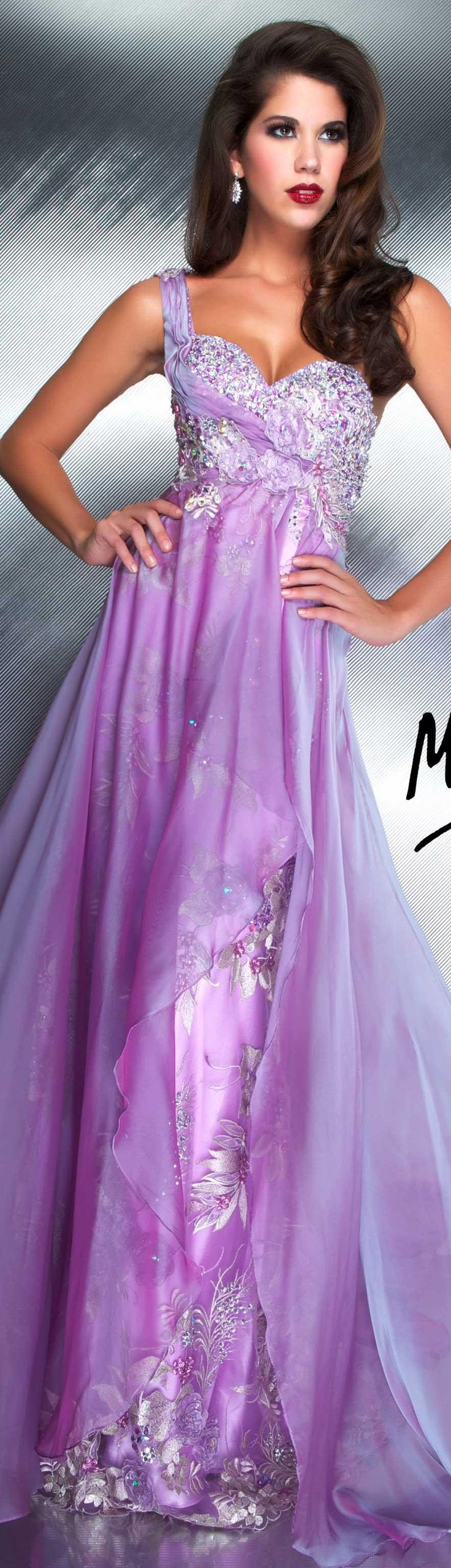 Mac Duggal couture dress lilac