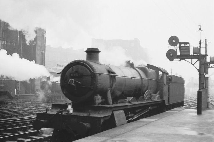 GWR Hall Class 4-6-0 No 6909 Frewin Hall at Paddington Station 17 December 1963 FG Steinle