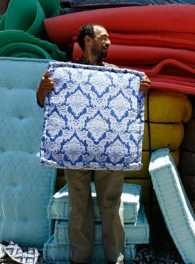 Fez silk blue household hardware.nl