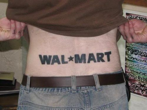 You could think of nothing better than Wal Mart?