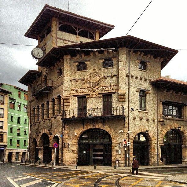 Estación de Atxuri (1912), de estilo Neovasco_MANUEL MARIA DE SMITH