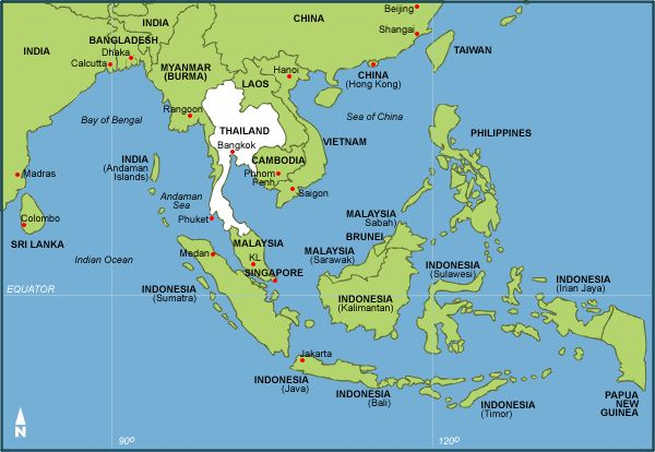 Malacca is located in a very convenient spot around SE Asia where