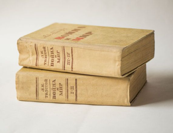 War and Peace novel in Russian Leo Tolstoy novel book by SovietEra