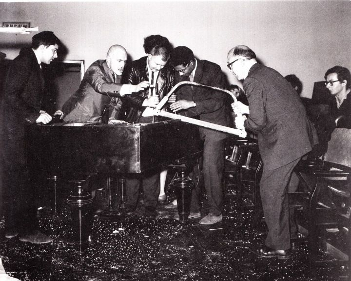 Phil Corner, Activities (here performed by Dick Higgins, Wolf Vostell, Benjamin Patterson + Emmett Williams), 1962