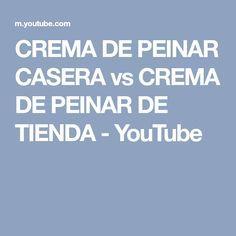 CREMA DE PEINAR CASERA vs CREMA DE PEINAR DE TIENDA - YouTube