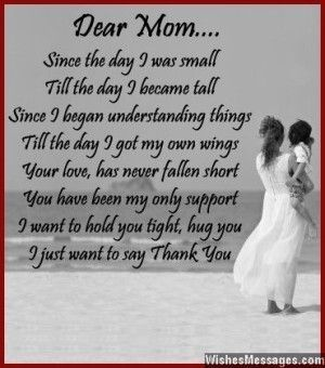 short thank you mom poems from daughter poemdoc or