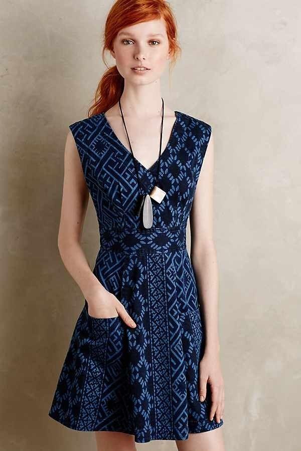 Denimdress Anthropologie Tracy Reese Plenty Denim Dress Geometric Print Size 12 50 00 0 Bids End Date Thursday Nov 8 2018 16 53 45 Pst