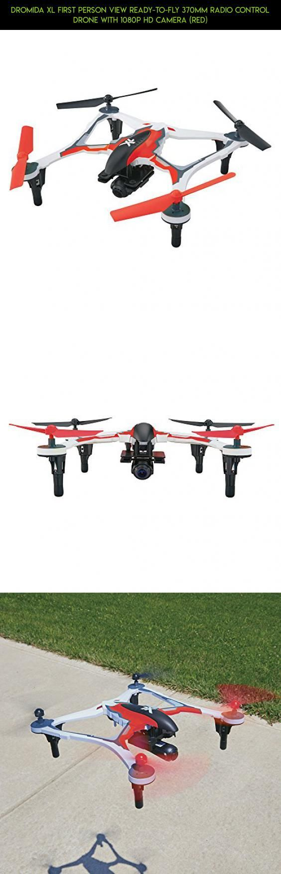Dromida XL First Person View Ready-to-Fly 370mm Radio Control Drone with 1080p HD Camera (Red) #2s #camera #kit #technology #parts #products #tech #drone #fpv #gadgets #dromida #lipo #racing #plans #shopping