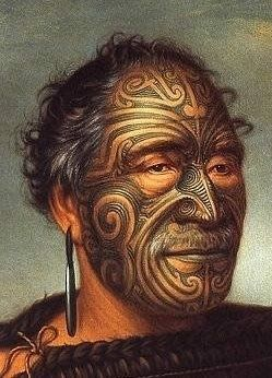 New Zealand | A cropped image of the original painting of Tamati Waka Nene (c.1785-1871) by Gottfried Lindauer, in 1890. | Tamati Waka Nene was a warrior and chieftan of the Ngati-Hoa tribe in the early 19th century.
