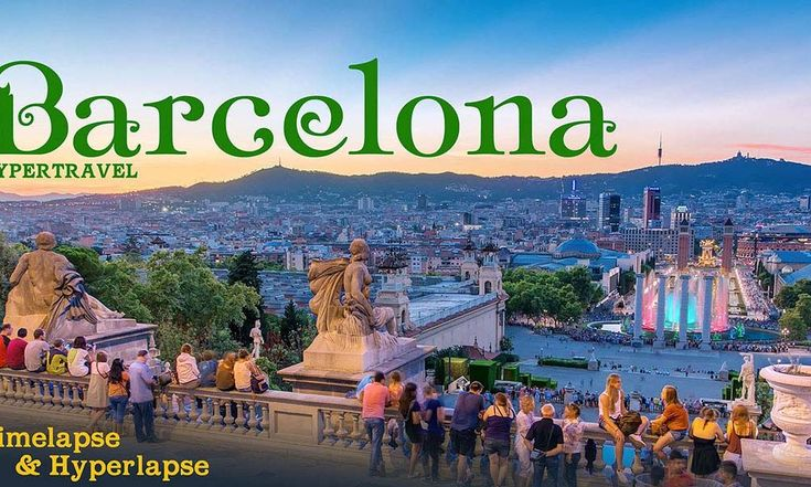 No time for boring slow videos? This hypertravel to Barcelona is for you!
