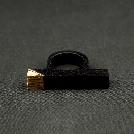 Bembea gold plated ring  darkroomlondon.com