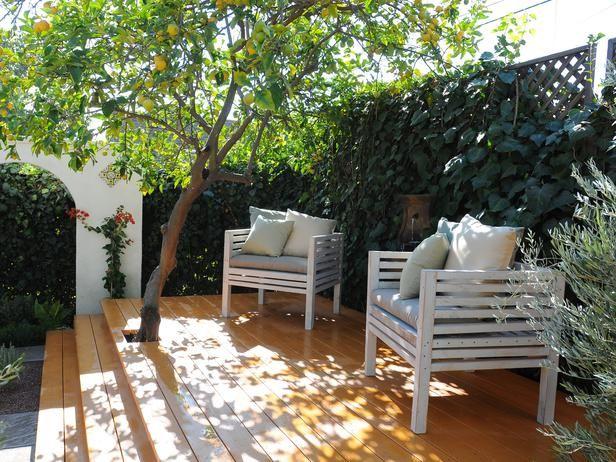 Make Shade: Canopies, Pergolas, Gazebos and More : Outdoors : Home & Garden Television - build a patio deck around a lemon tree