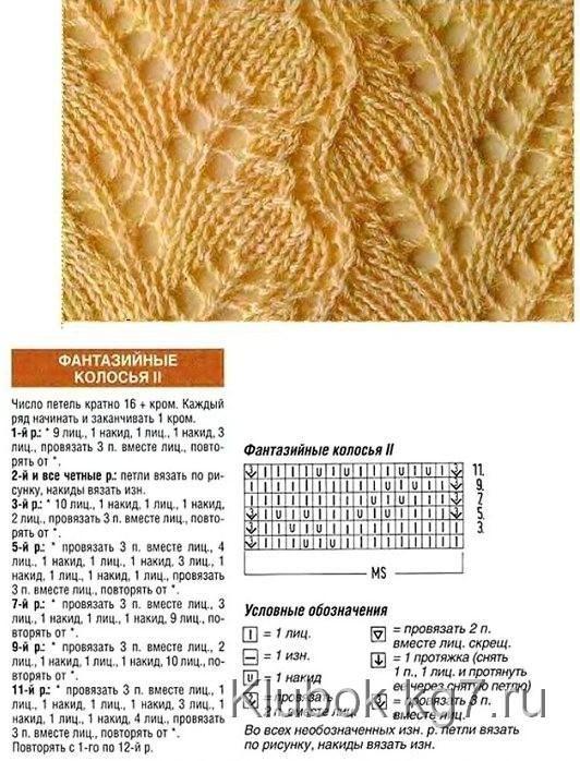 Узоры для вязания спицами 179