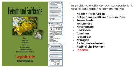 #HSU #Pilz Unterrichtsmaterial für den Sachkundeunterricht.  Verschiedene Fragen zu dem Thema: Pilz • #Pilzarten / Pilzgruppen •Giftige / ungenießbare / essbare Pilze •Unterschiede •Bestandteile • #Pilzvergiftung •Funktionen •Zuordnen •Lückentext •29 Fragen •2 x# Lernzielkontrollen •Ausführliche Lösungen •15 Seiten