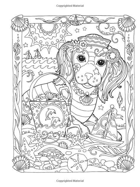 Creative Haven Dazzling Dogs Coloring Book Marjorie Sarnat
